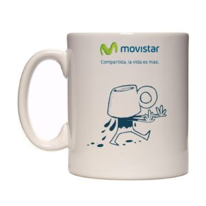 Taza original movistar