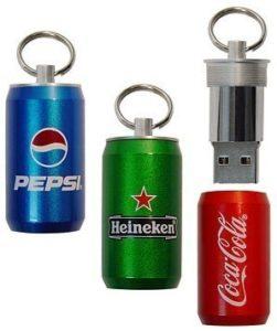 Memoria USB pendrive 2.0 lata de refresco