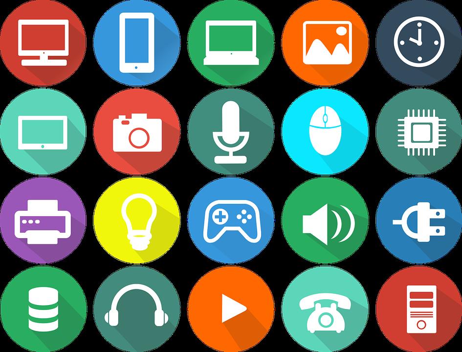 Iconos dispositivos tecnológicos