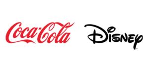 Logotipos de Coca Cola y Disney