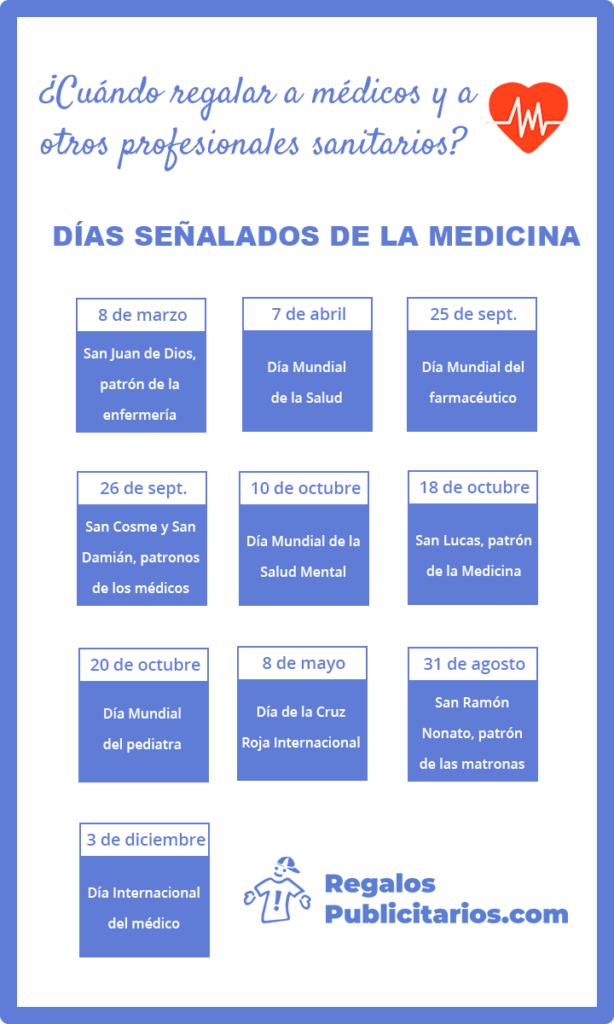 calendario dias señalados para medicos