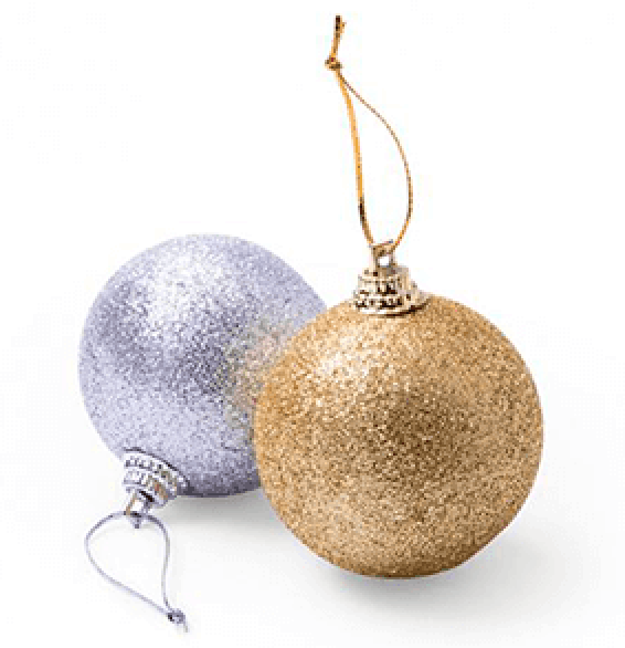 set de bolas navideñas
