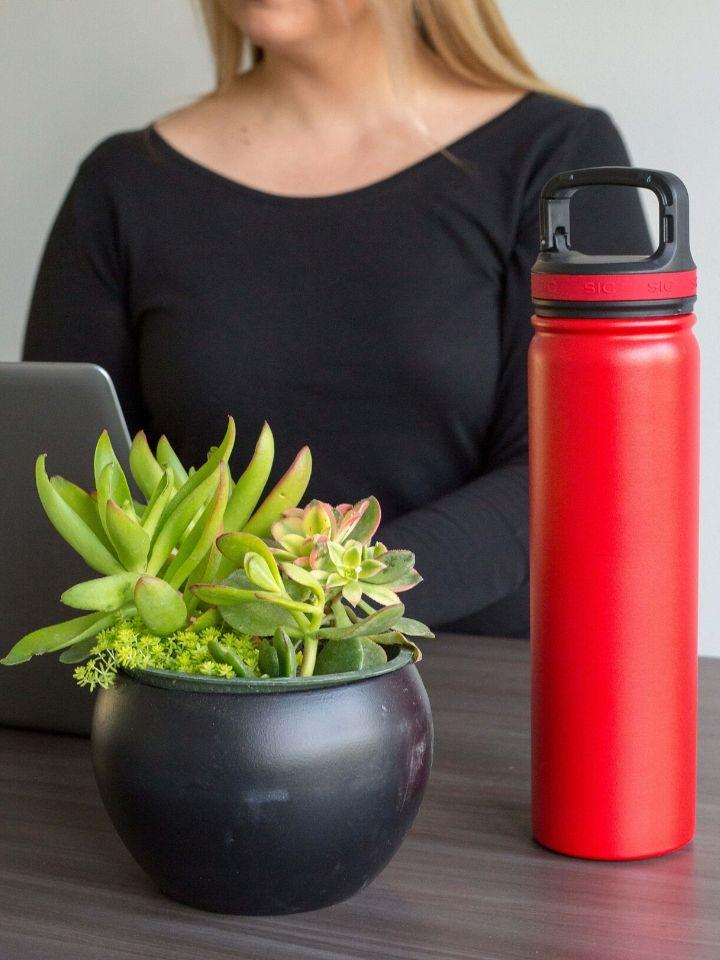 Botella reutilizable de aluminio personalizada