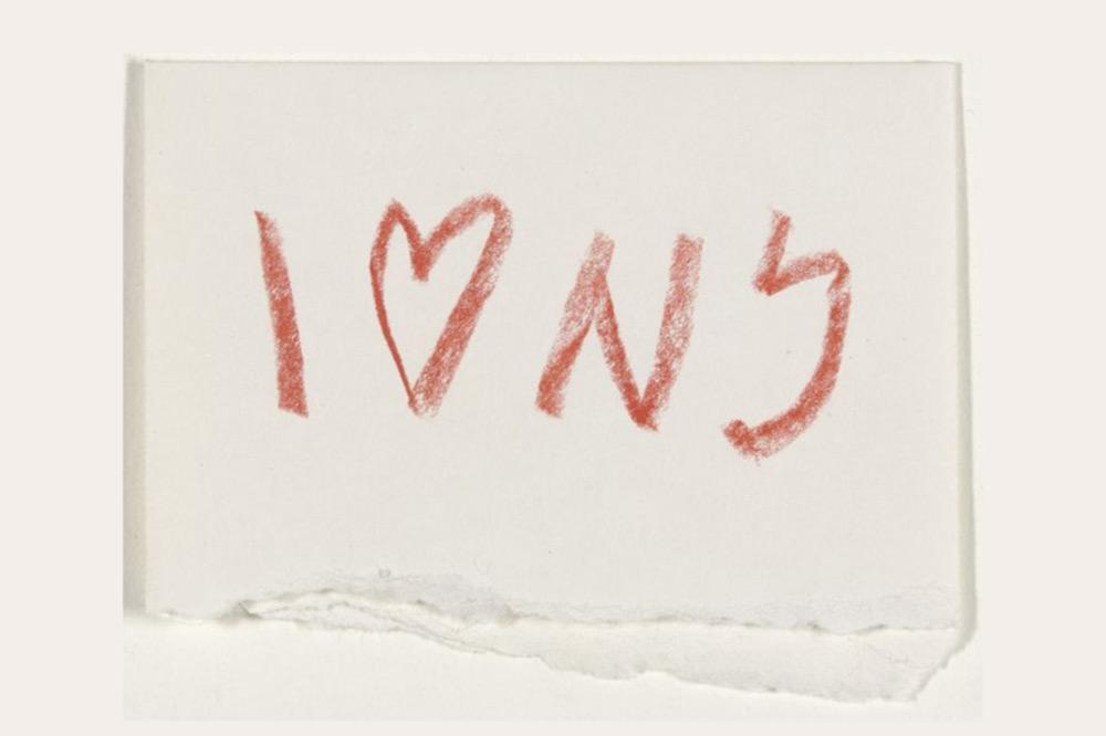 Boceto de Milton Glaser de I heart NY i love NY